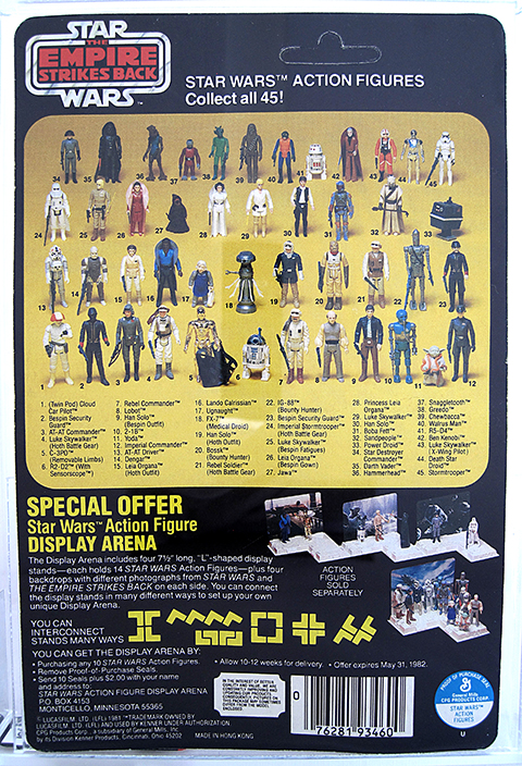 produktionsvolumen star wars figuren kenner